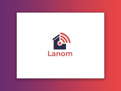 Lanom (Home Wifi) Logo website logo design logo minimalist logo branding ux ui wlan web app internet wifi home