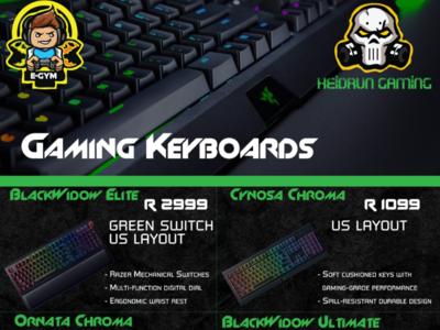 Gaming Keyboard Catalog Design
