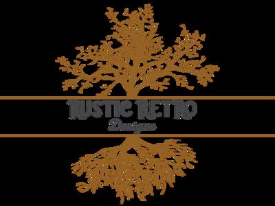 Rustic Retro Tree Logo