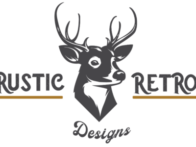 Rustic Retro Deer Logo