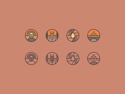 Beer Icons vector illustration beer icons colourpalette brand