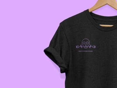 Roses to Riches tshirt branding roses skull