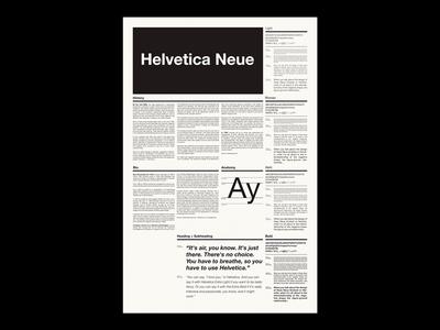 Helvetica Neue Type Specimen / Side B