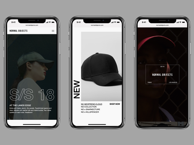 Normal Objects—Mobile.03 website flat ux ecommerce objects normal clean typography type graphic design design web ui mobile minimal layout iphone x helvetica grid fashion