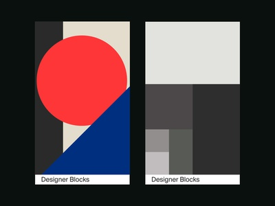 Designer Blocks - Cards graphic grid swiss clean minimal typography type graphic design layout design