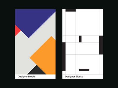 Designer Blocks - Cards graphic grid swiss print clean minimal typography type graphic design layout design