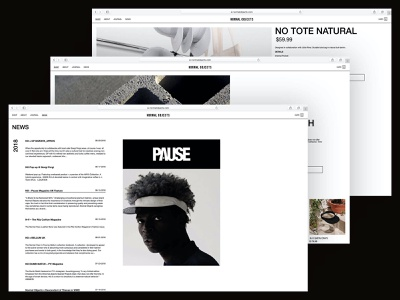 Site.002—Normal Objects fashion web layout minimal helvetica article premium vision product typography type clean editorial swiss ui grid design graphic design