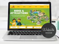 Website design and branding for Legoland UK