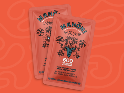Mahōni manuka new zealand maori honey icon startup illustration corporate design design website ux ui logo branding