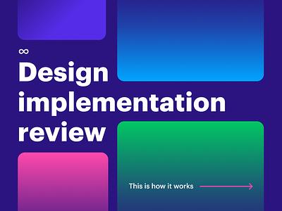 Design implementation review handoff process compare developer designer ux ui implementation review design