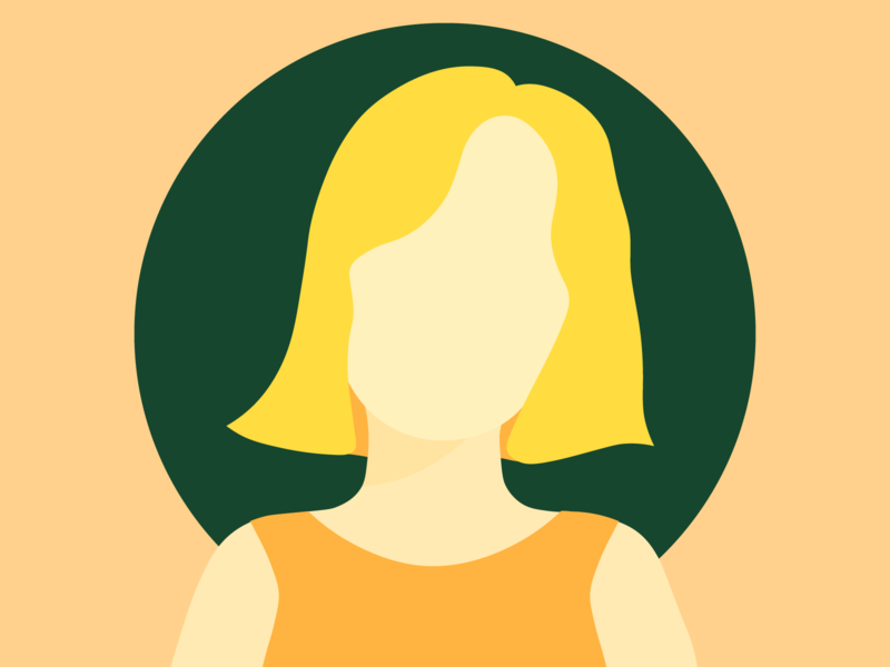 self portrait yellows self portrait portrait people flat illustration colorful yellow illustrator illustration fun simple design