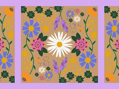 kaleidoscopes planets moon sun flowers flower space kaleidoscope colorful illustrator fun simple design