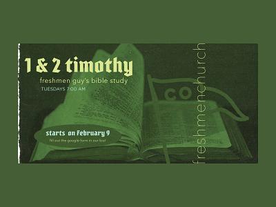 Seamless Social Post: Bible Study Announcement design social media design social media christian bible layout type purple green seamless seamless social post social post bible study