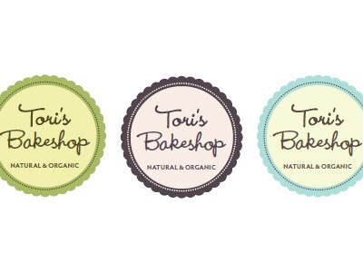 Tori's Bakeshop Colours logo branding identity organic natural bakery colors
