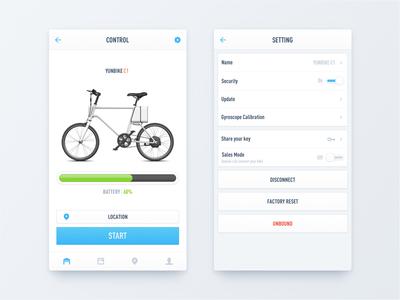 Bike Control & Setting
