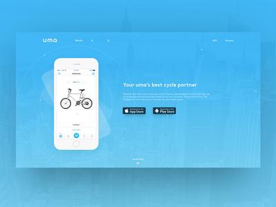 uma app website page