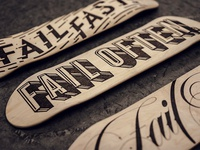 Fail Boards - Wood Burned Typography