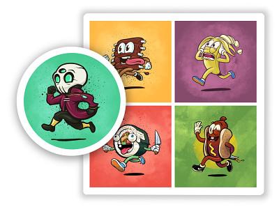 Mascot Illustrations mascots character design mascot design vector logo apparel design graphic tee design design cartoon style illustration branding illustration branding