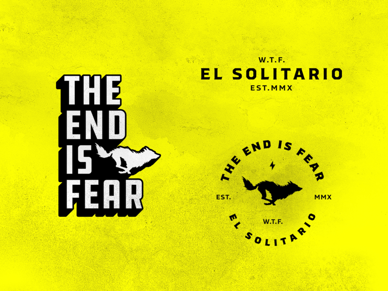 El Solitario logo typogaphy motorbike bolt wolf motorcycle