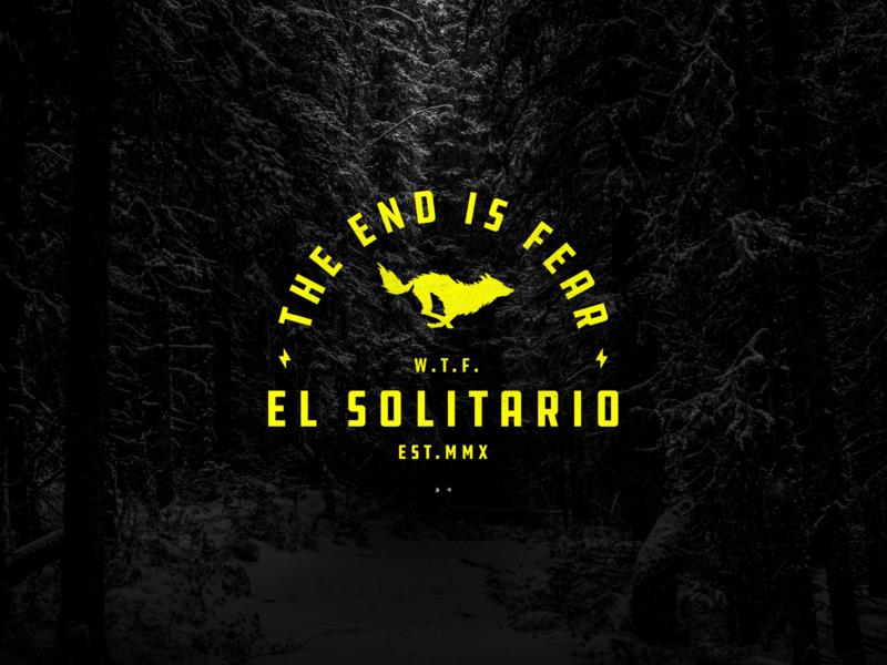 El Solitario II typography bolt wolf motorcycle