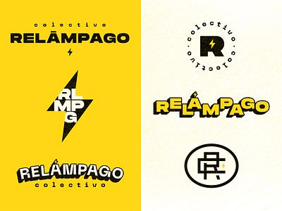 Relámpago agency c cr r lightning branding logo monogram bolt