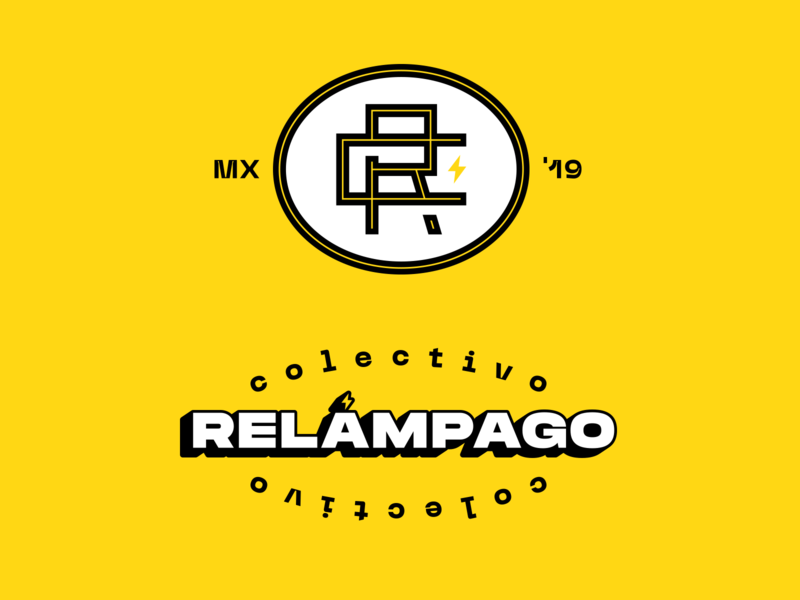 Relámpago II branding agency rc typography logo monogram