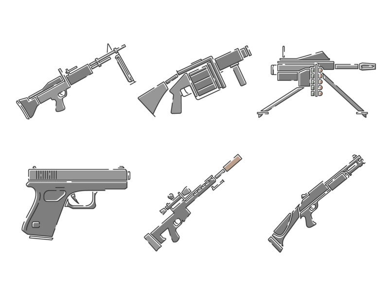 Weapon Icons adobe illustrator weapon illustrator contour vector icon