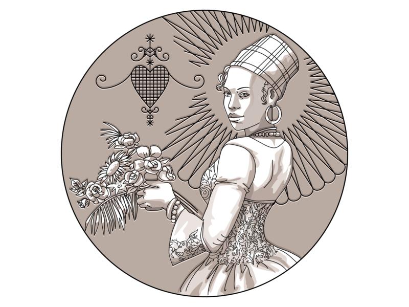 Illustration of a Woman flovers woman illustration girl illustrator contour vector