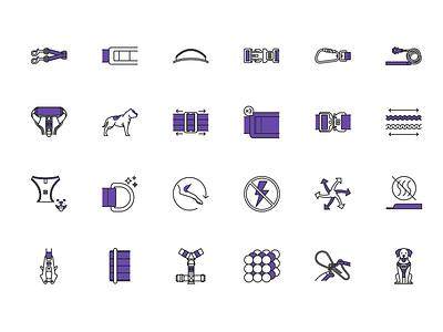 Dog products icons dog adobe illustrator contour icon vector
