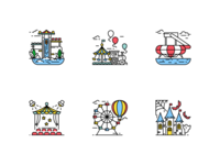 Attractions Icons