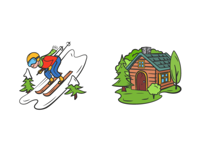 Different Activities activity illustrator vector contour icon