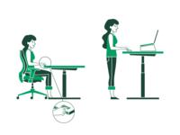 Instructions for proper posture