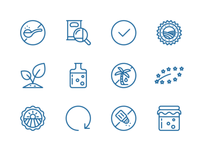 Icons for Coppola Foods salt palm trees signup plants sugarskull adobe illustrator contour vector icon