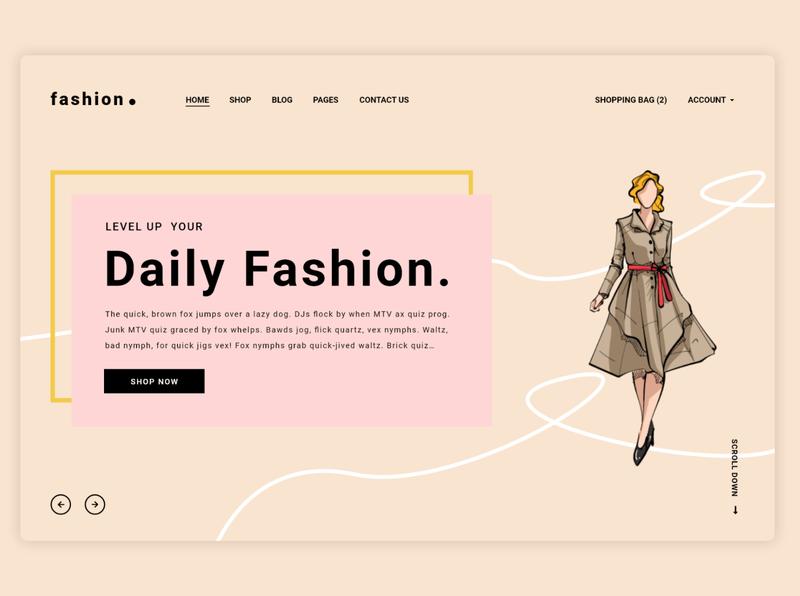 Fashion Landing Page landing page design design ui ui design web design webdesign website landingpage landing page fashion