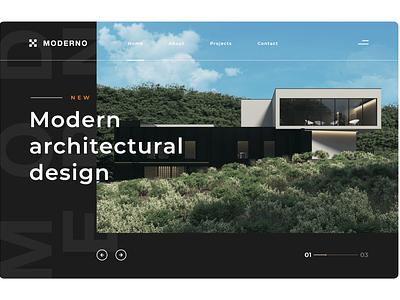 Architectural Landing Page design ui landingpage web design webdesign landing page design website landing page