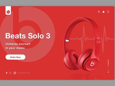 Beats Solo Landing Page web design ui webdesign design landing page design website landing page landingpage
