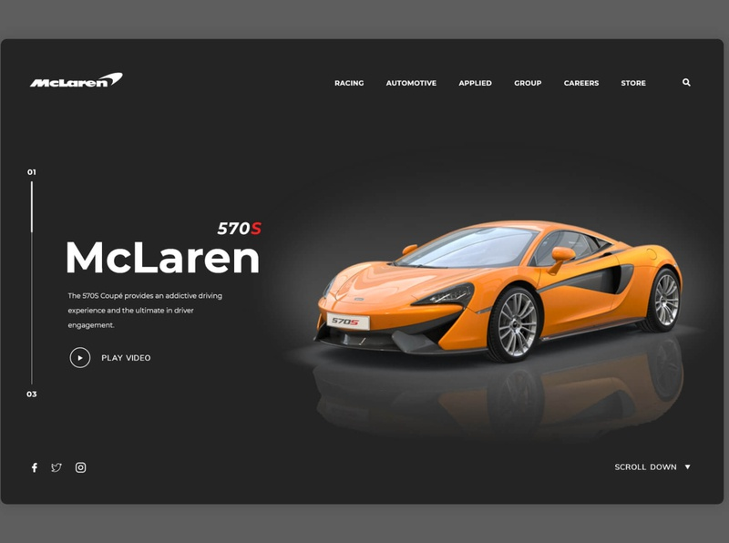 Mclaren Landing Page landingpage web design webdesign landing page design ui website design landing page