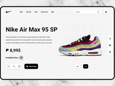 Nike Ecommerce Landing Page ecommerce landingpage web design webdesign branding landing page design website ui landing page design