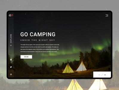 Camping Landing Page landingpage web design webdesign landing page design website ui landing page design