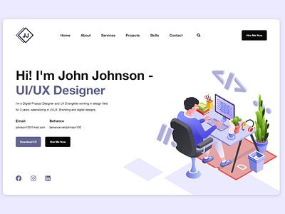 Portfolio Landing Page branding illustration landingpage web design webdesign landing page design website ui landing page design