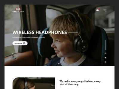 Wireless Headphones Landing Page landingpage web design webdesign landing page design website ui landing page design