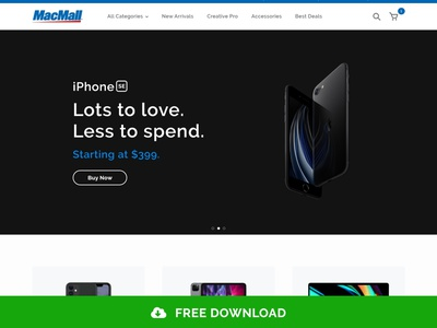 MacMall Homepage ui design ecommerce landing page web design