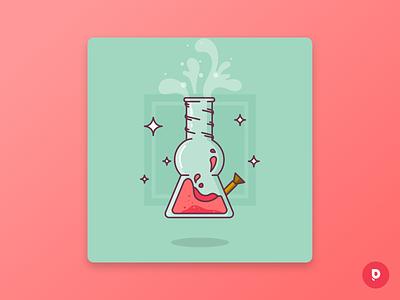 Lifted: Uncommon Card magical neonmob illustrator vector illustration flat design flat digital illustration design collectibles card series cards card design bongart bong adobeillustrator adobe 420art