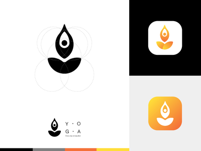 YOGA LOGO icon sit logo yoga