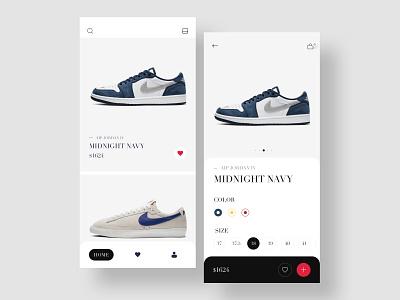 Store web ui mobile shopping cart app shoes nike