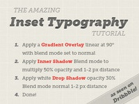 Inset Typography Tutorial