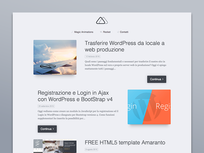 My new website clean minimal design web minimamente