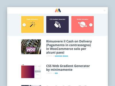 Carousel for Minimamente slider material web minimamente carousel