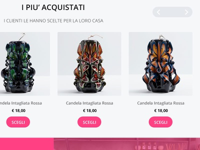 Carousel Candles for the next Online Shop design web ecommerce carousel shop candles