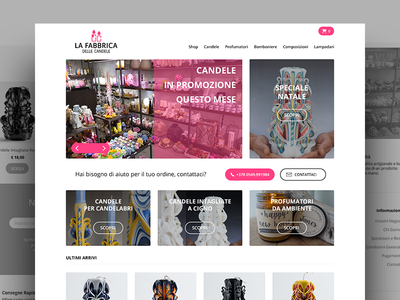 E-Commerce Shopping homepage candles web design design clean woocommerce wp wordpress e-commerce web store